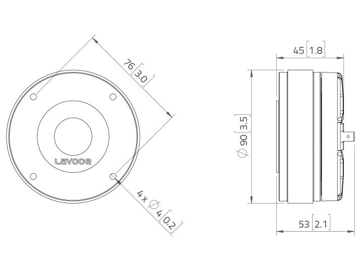 LAVOCE DF10.14M 1 Kompressionstreiber, Ferrit