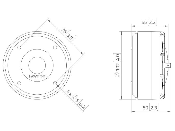 LAVOCE DF10.17 1 Kompressionstreiber, Ferrit