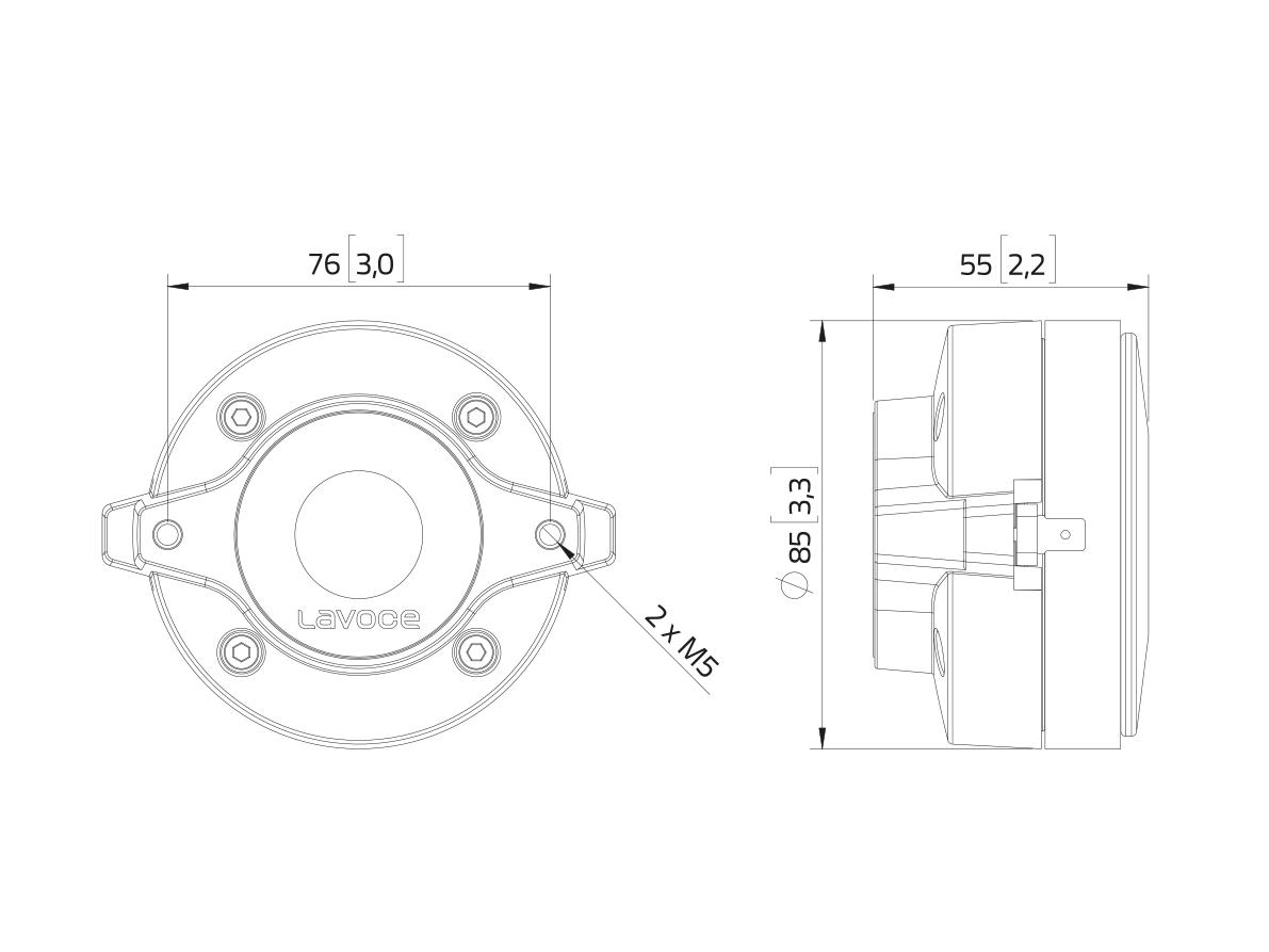 LAVOCE DF10.101LM 1 Kompressionstreiber, Ferrit
