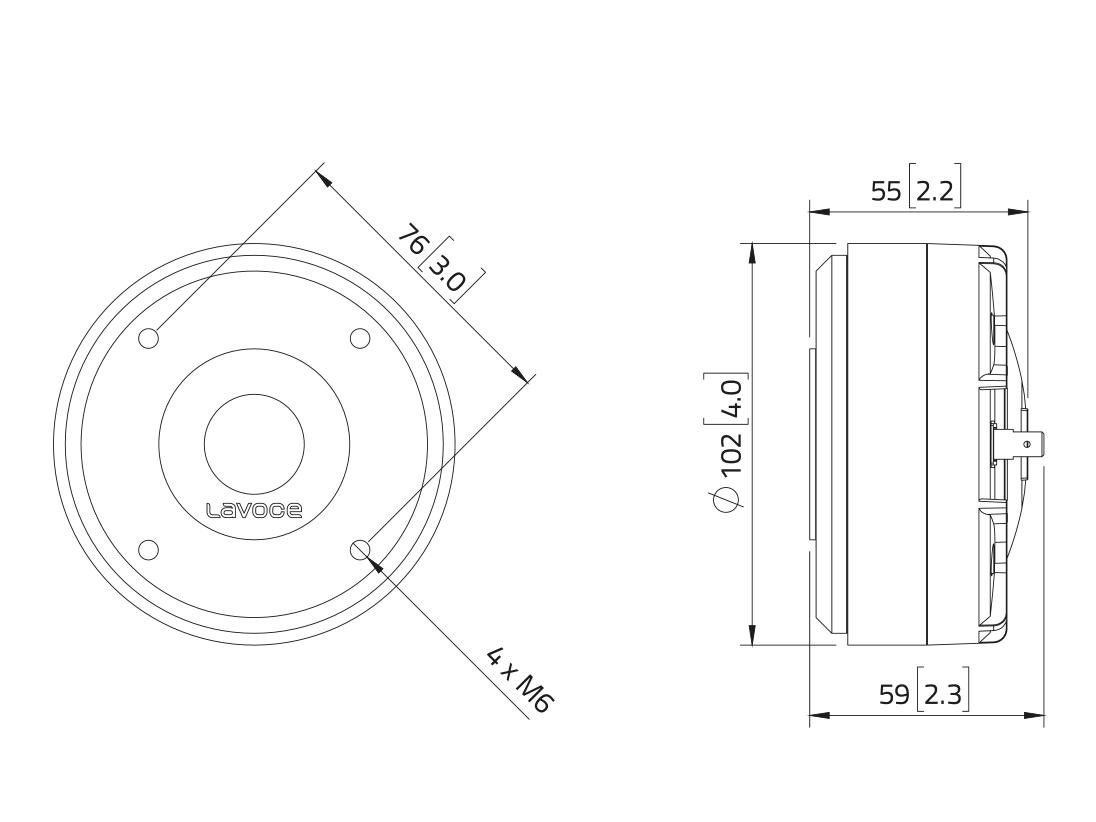 LAVOCE DF10.17LM 1 Kompressionstreiber, Ferrit