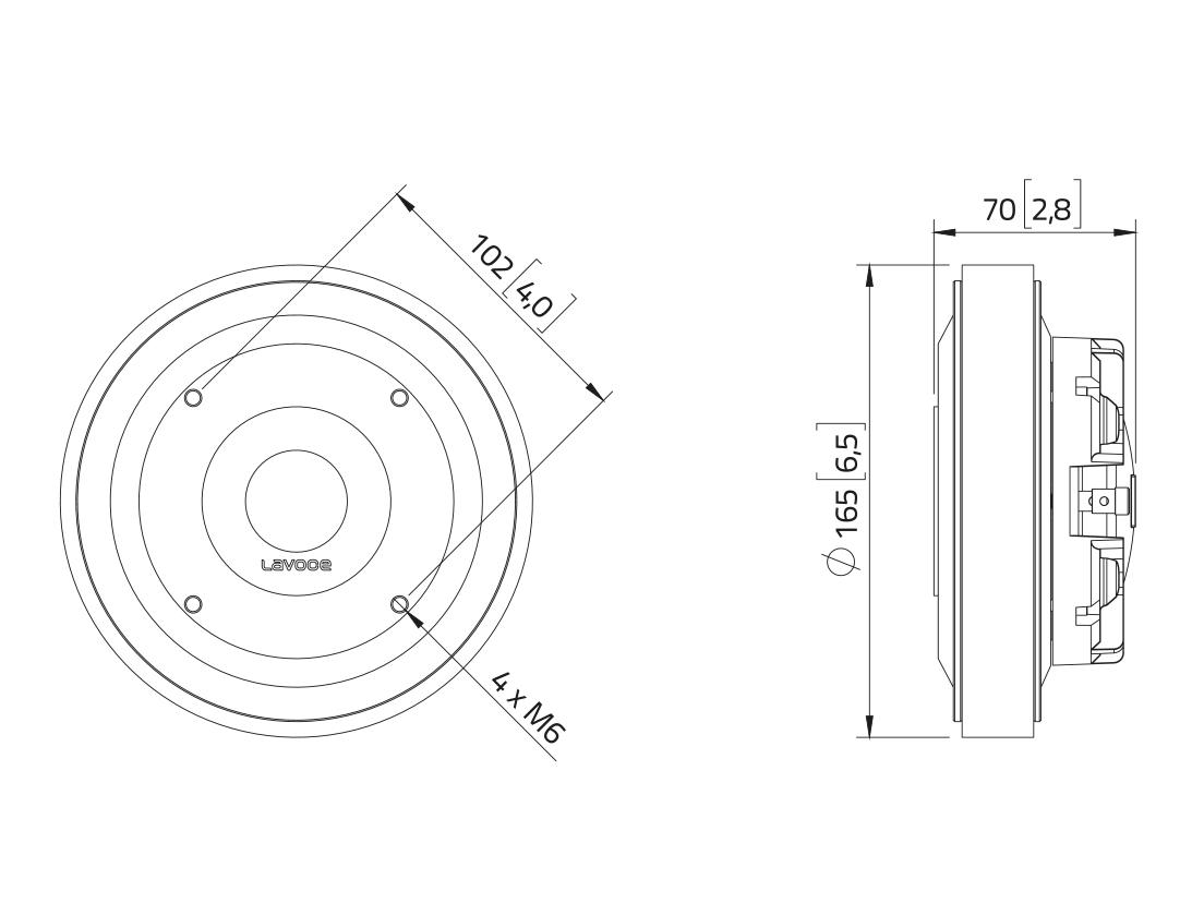 LAVOCE DF14.30T 1,4 Kompressionstreiber, Ferrit