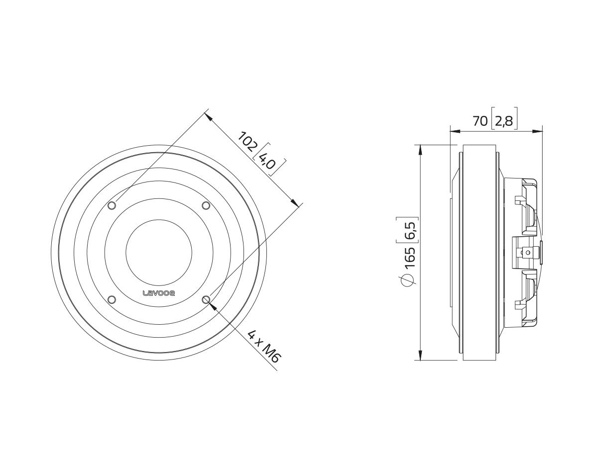 LAVOCE DF20.30T 2 Kompressionstreiber, Ferrit