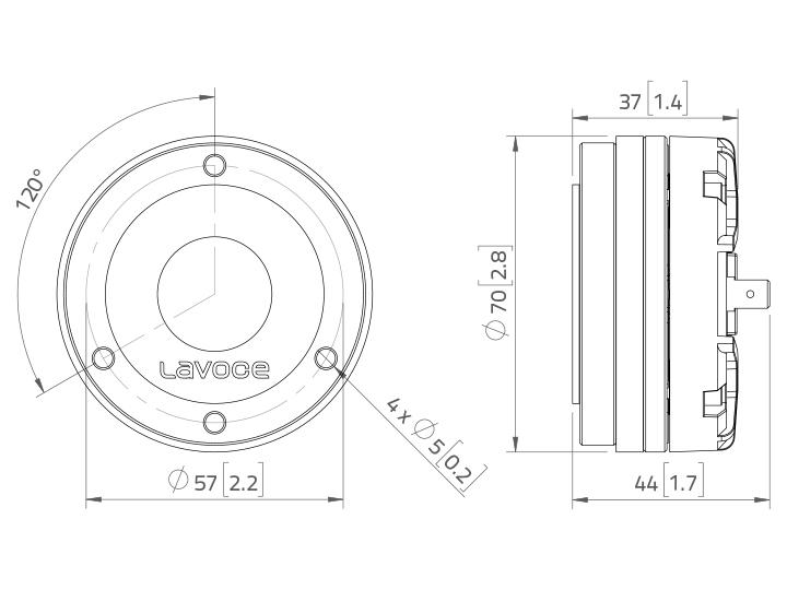 LAVOCE DN10.14M 1 Kompressionstreiber, Neodym