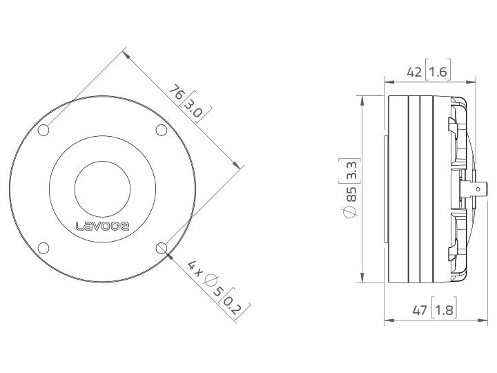 LAVOCE DN10.17M 1 Kompressionstreiber, Neodym
