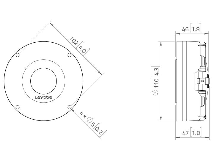 LAVOCE DN14.25T 1,4 Kompressionstreiber, Neodym