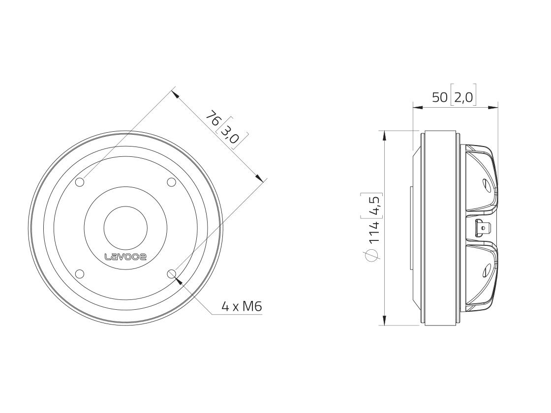 LAVOCE DF10.172M 1 Kompressionstreiber, Ferrit
