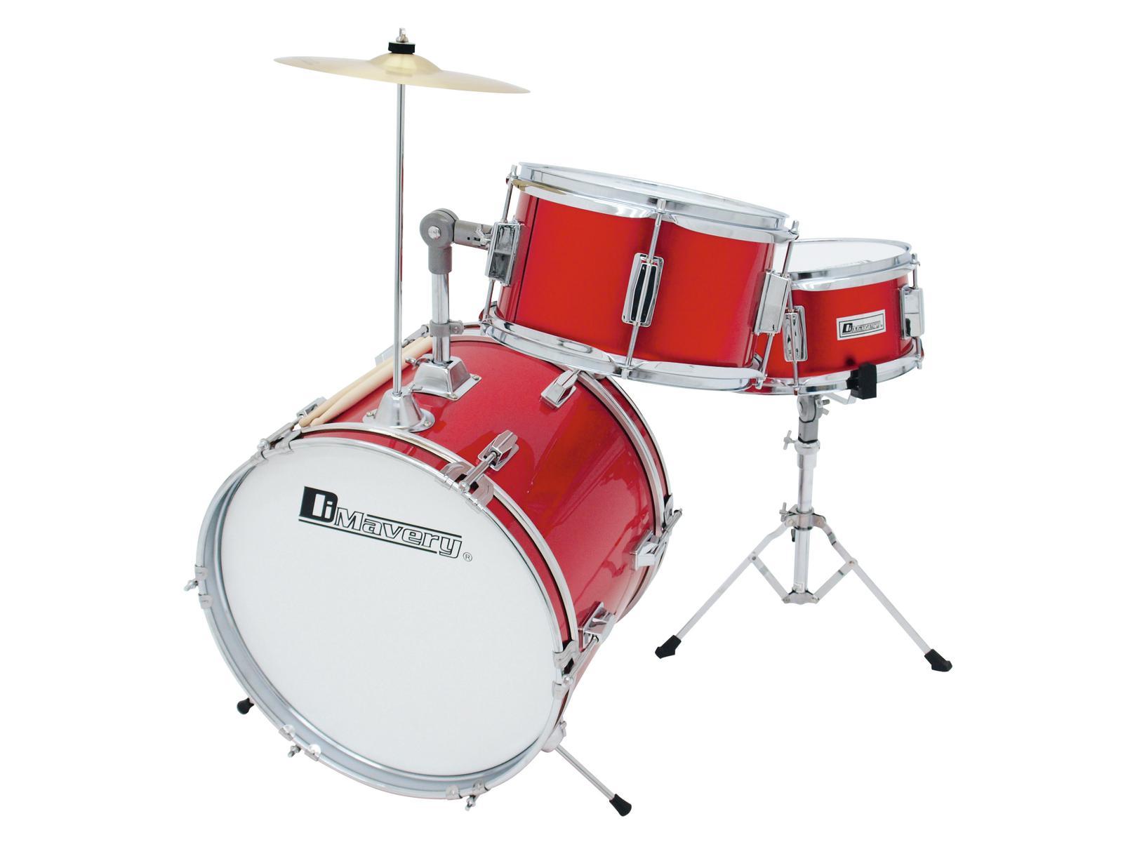 DIMAVERY JDS-203 Kinder Schlagzeug, rot