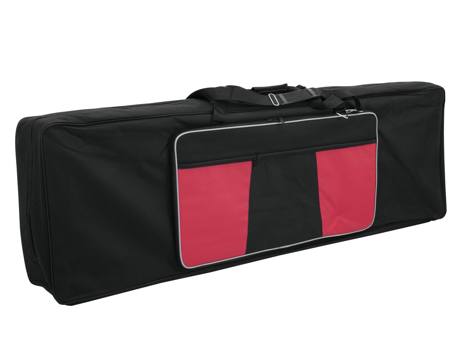 Borsa per tastiera taglia XL, nera con tasca laterale rossa, poliestere DIMAVERY