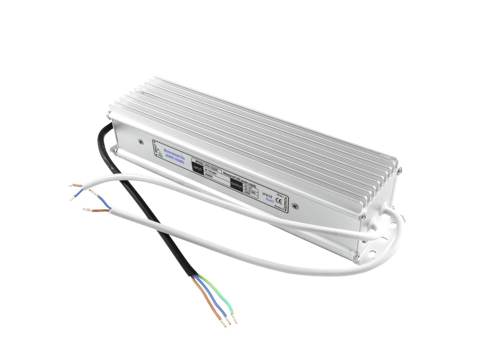 Transformer EUROLITE for LED strips 12V, 16,66 A IP67