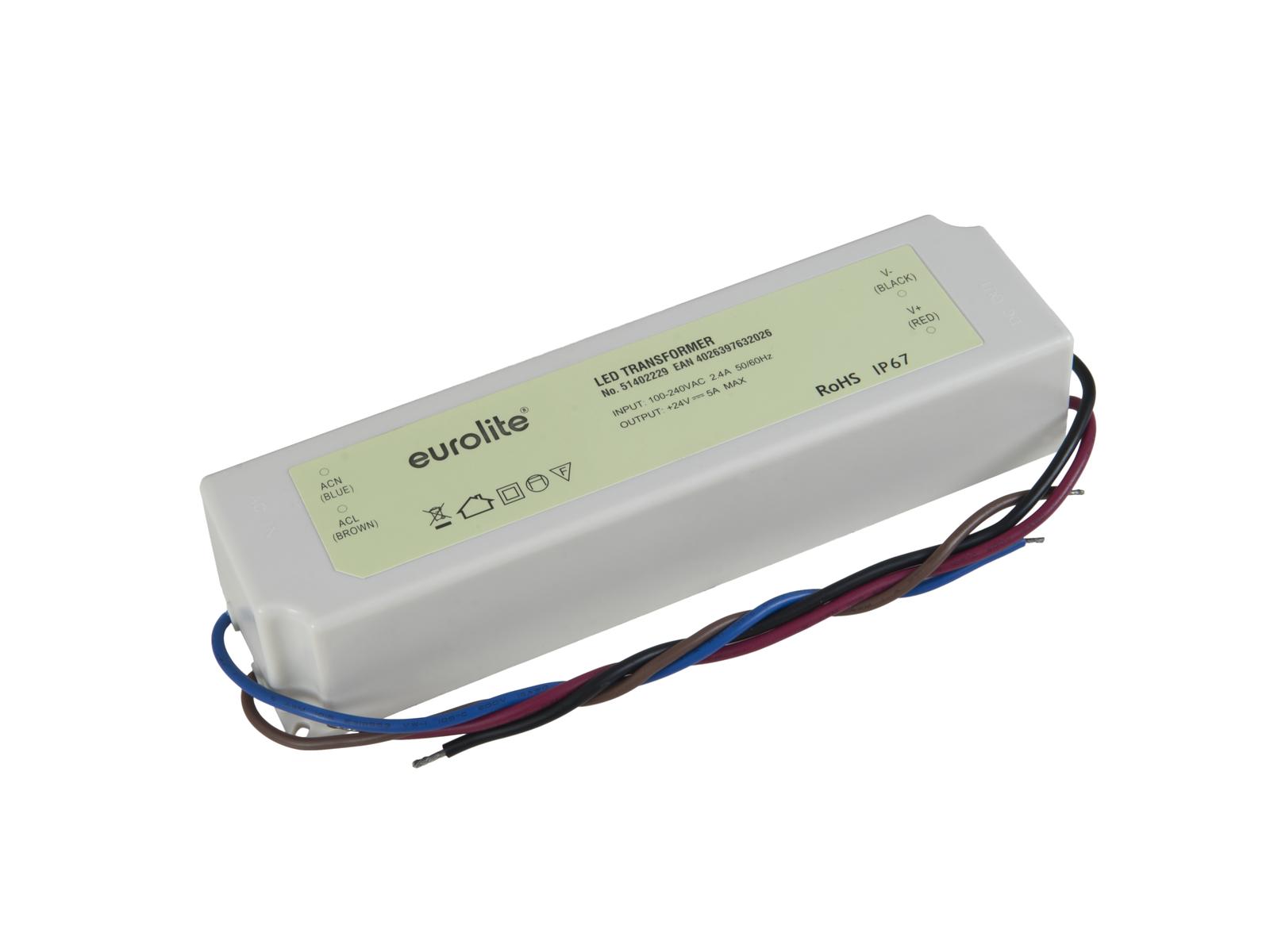 EUROLITE Elektronischer Trafo, 24V, 5A, IP67