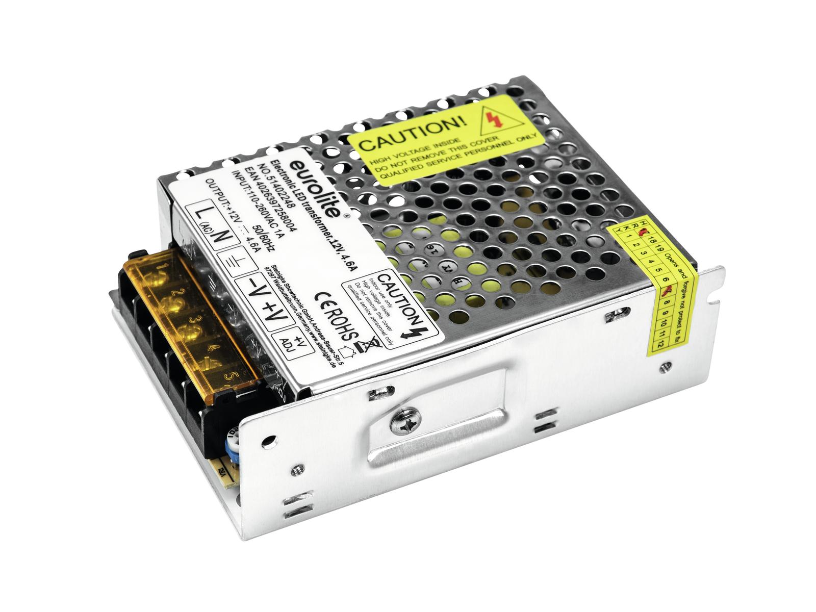 Transformer EUROLITE for LED strips, 12V, 4.6 A