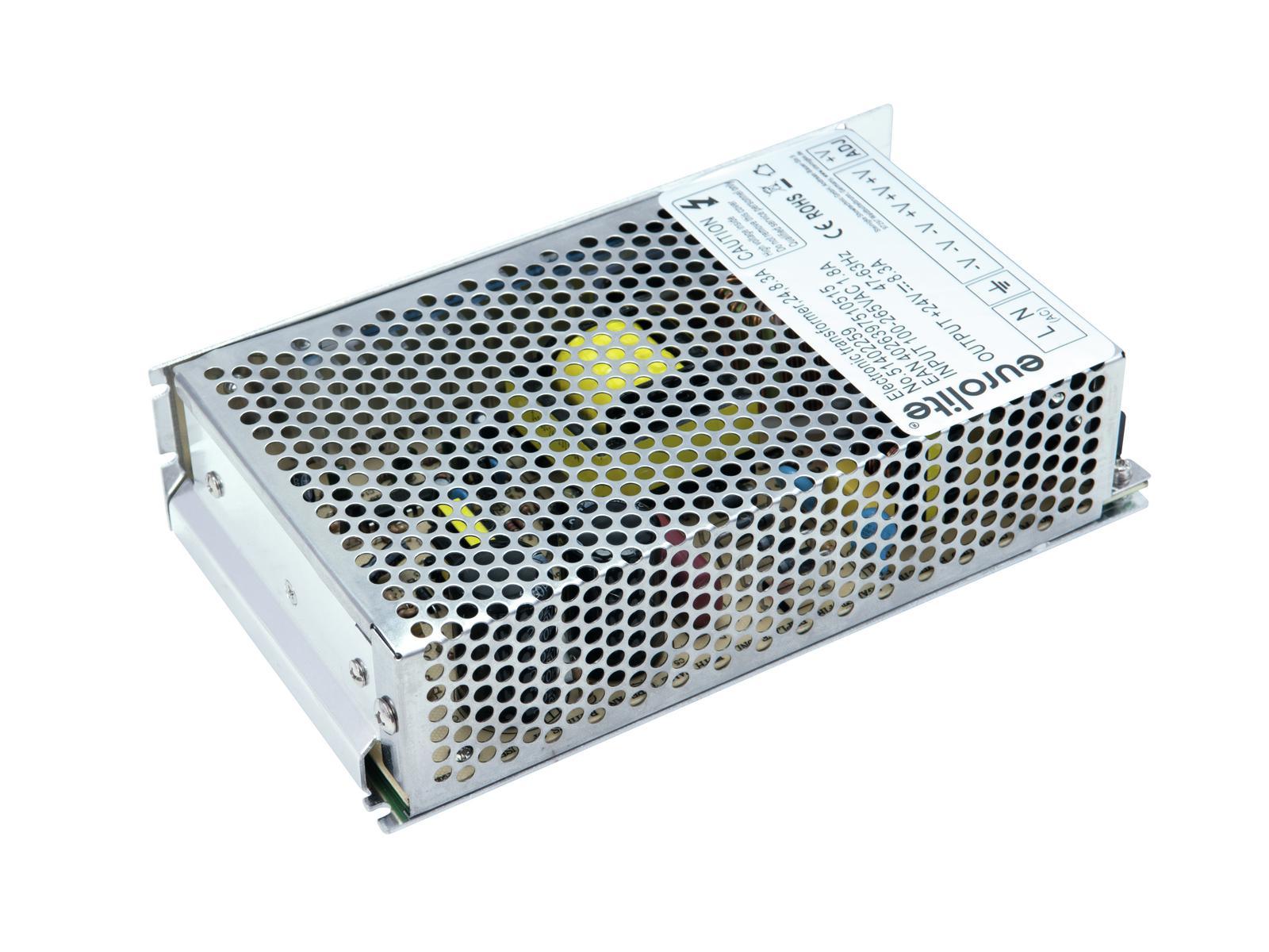 Transformer EUROLITE for LED strips, 24V, 8.3 A