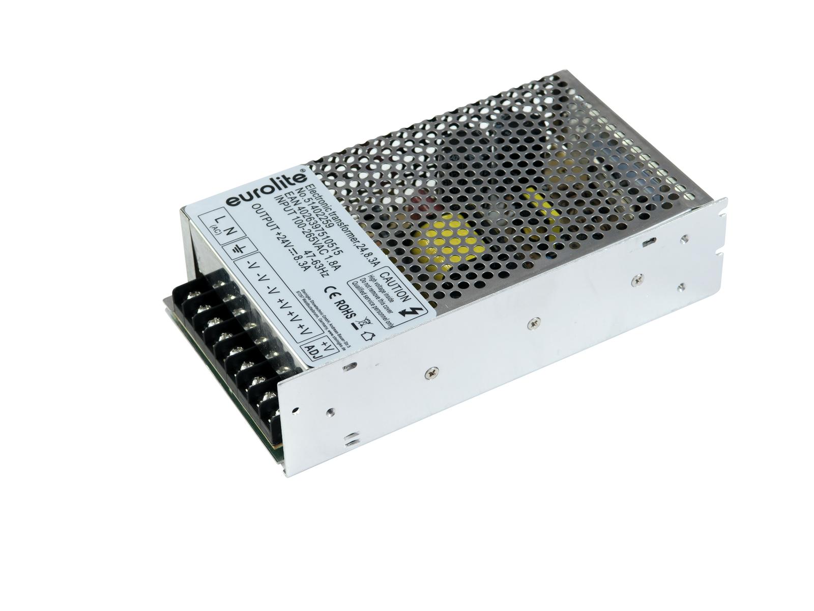 EUROLITE Elektronischer Trafo, 24V, 8,3A