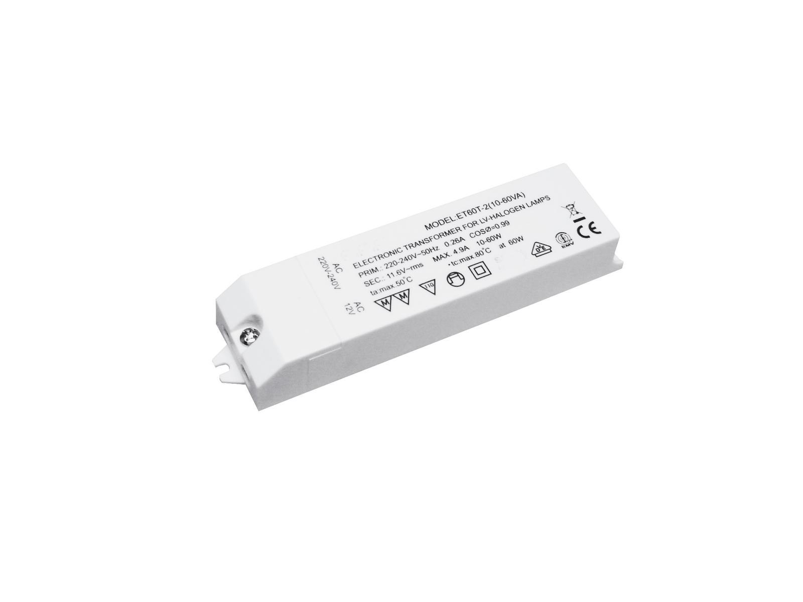 Transformer EUROLITE for low-voltage halogen lamps 12V/ 20-60VA