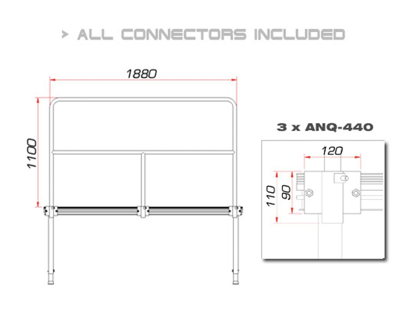 GUIL TMQ-02/440 Fase ferroviario 188 cm (versione in alluminio)
