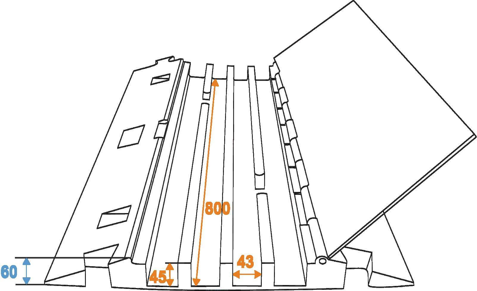 EUROLITE Cablebridge 4 canali 800 mm x 550mm