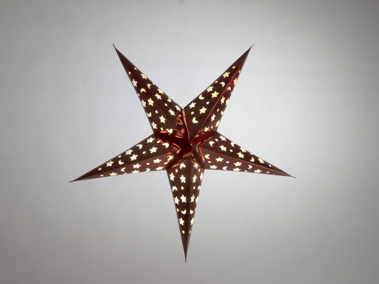 Lanterna Di Carta da appendere A Forma Di stella Colore Rosso 50 Cm Europalms