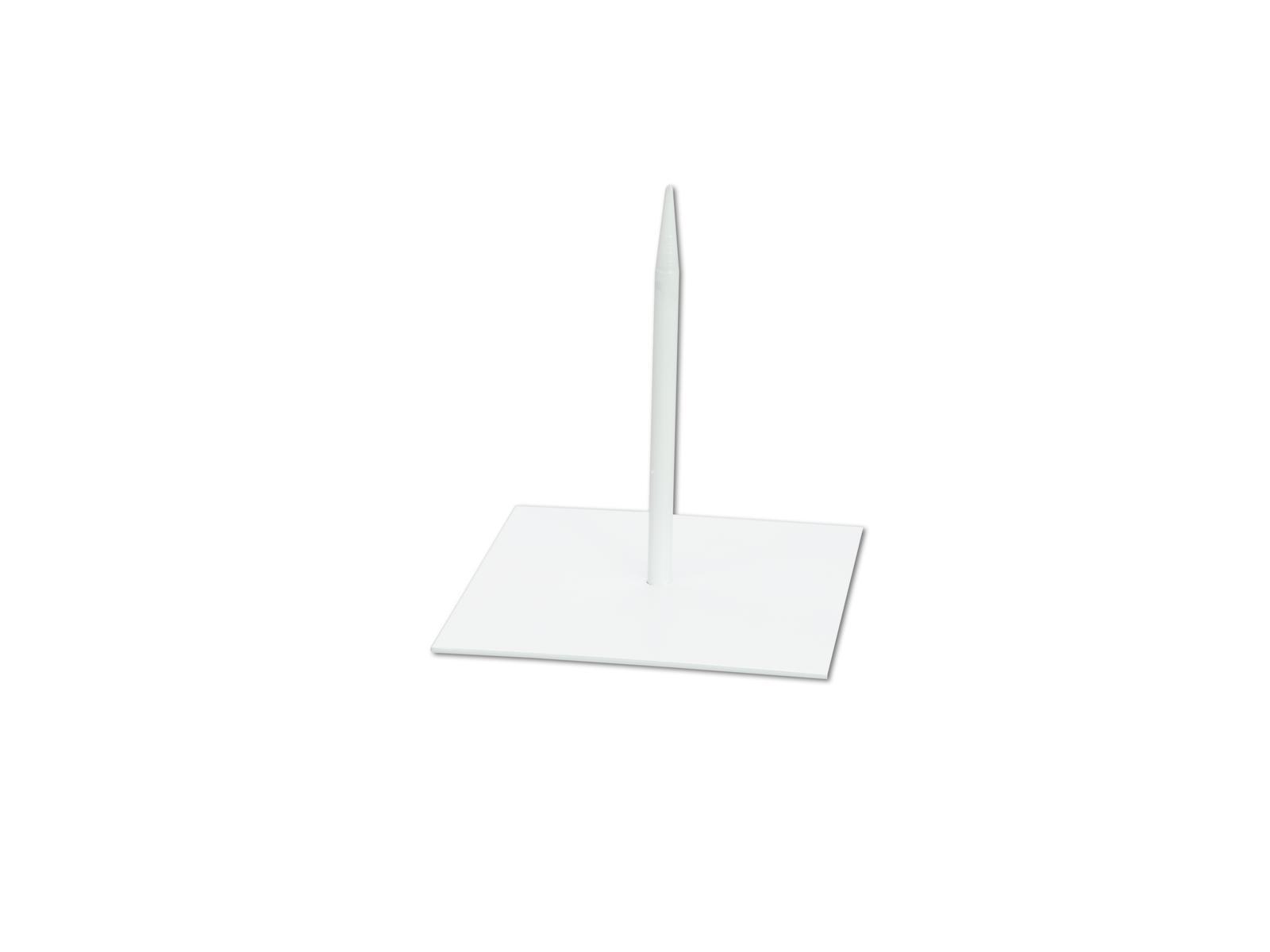 EUROPALMS Metallständer für Deko 18x18cm weiß