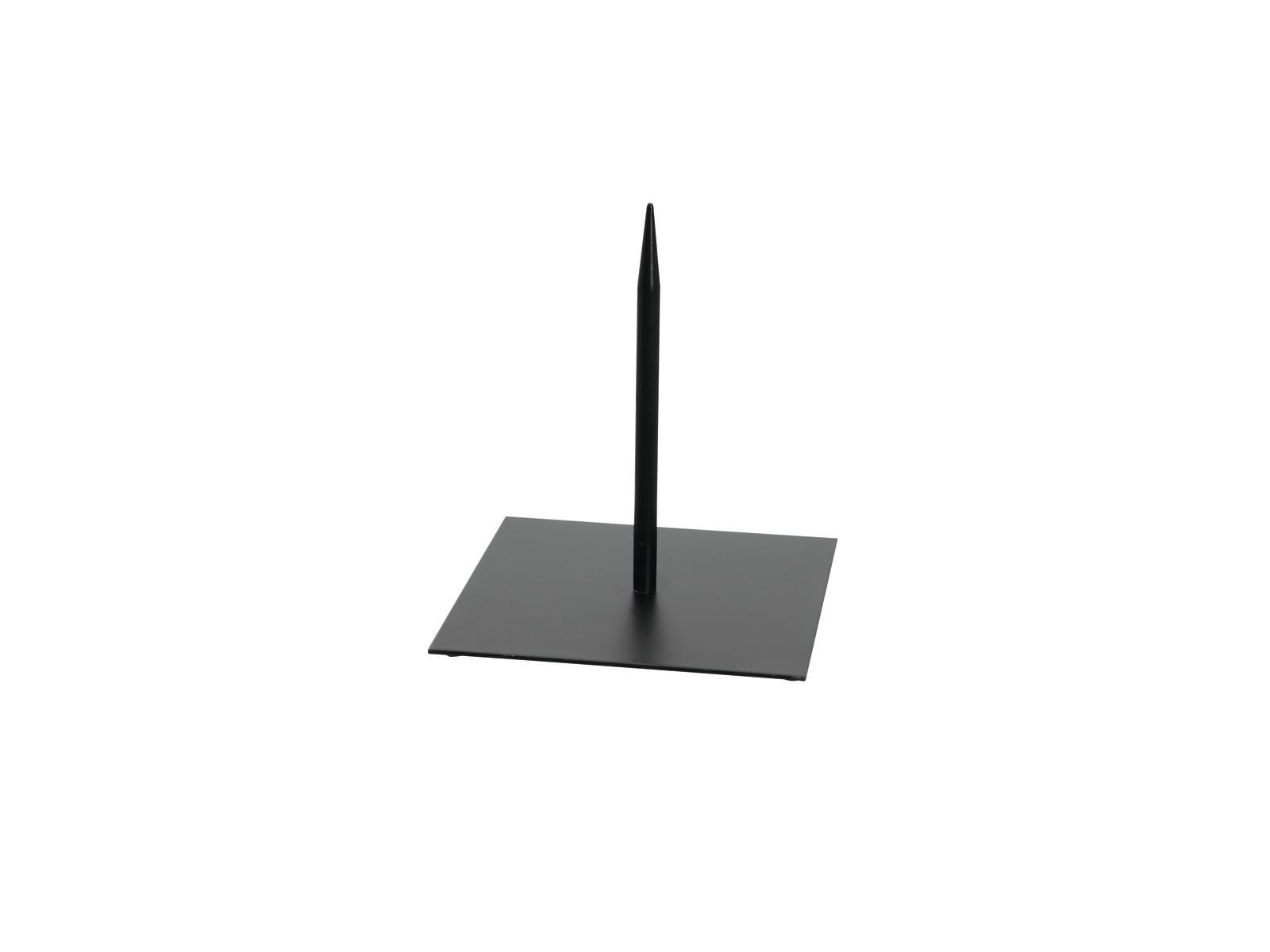 EUROPALMS Metallständer für Deko 18x18cm schwarz