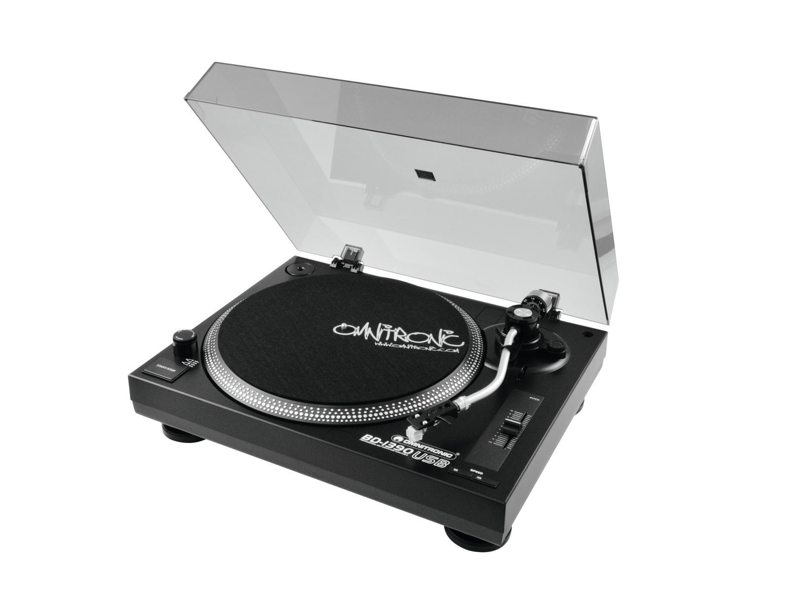 Giradischi Piatto Dj Professionale Omnitronic BD-1390 USB NERO