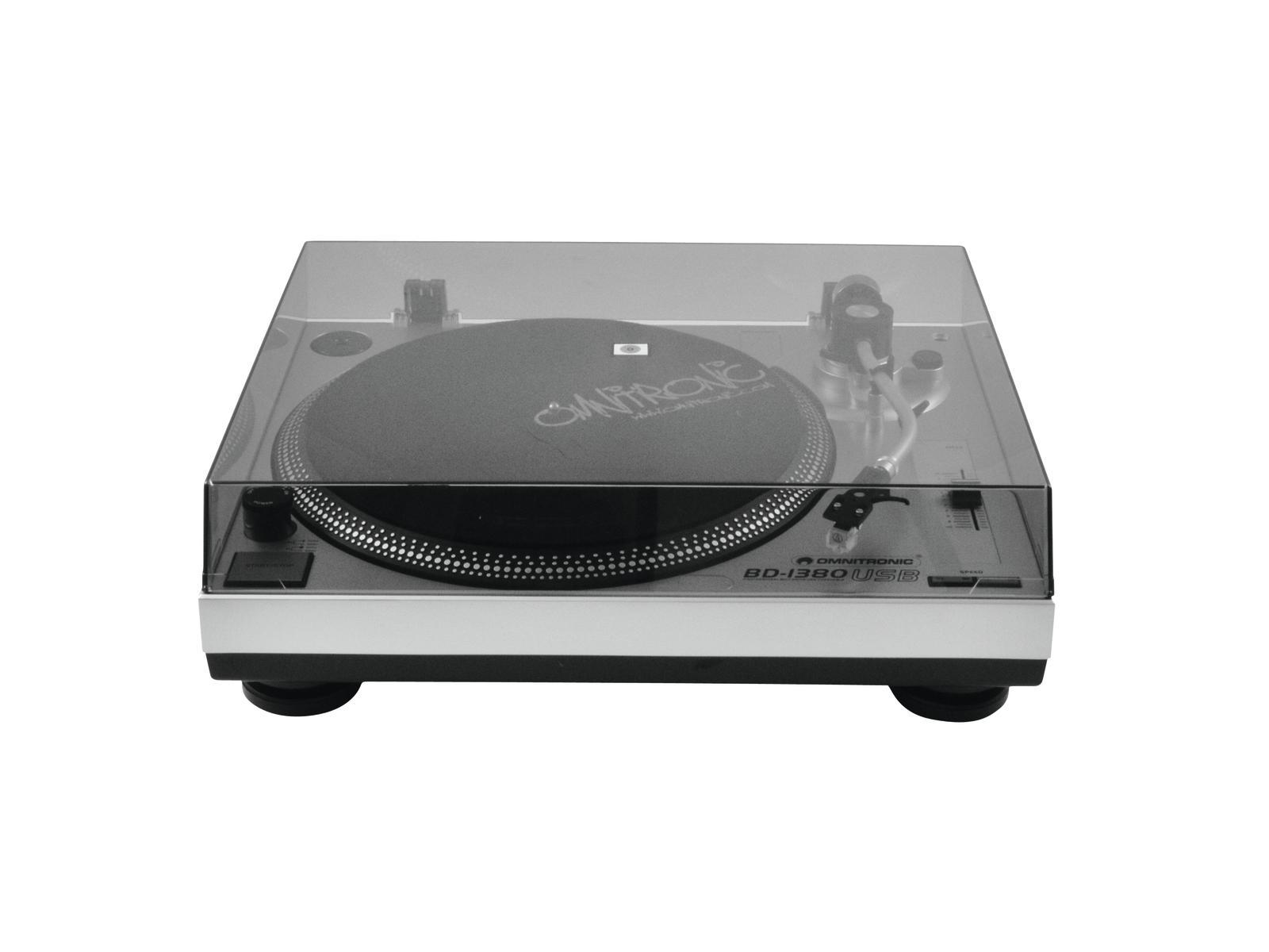 OMNITRONIC BD-1380 USB-Plattenspieler sil