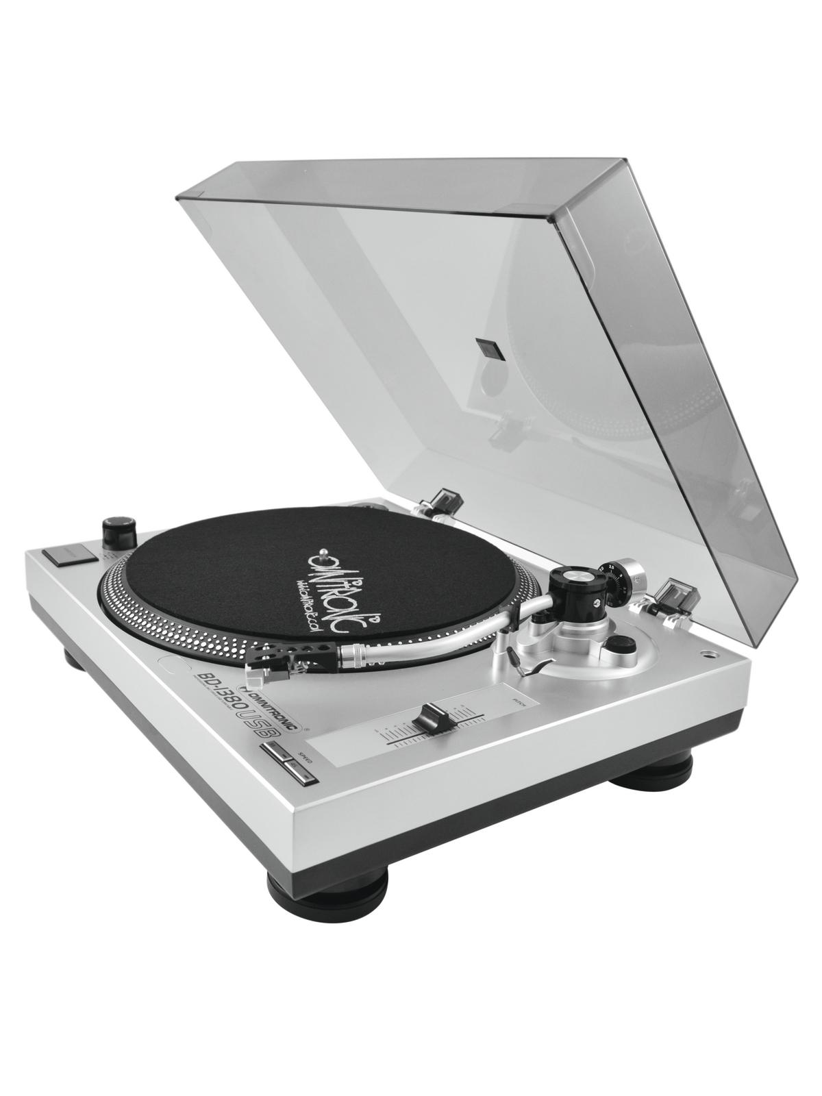 Turntable tv with USB input conversion vinyl to Mp3 OMNITRONIC BD-1380