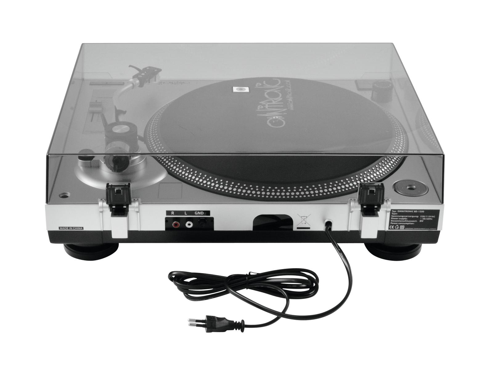 OMNITRONIC BD-1350 Plattenspieler sil
