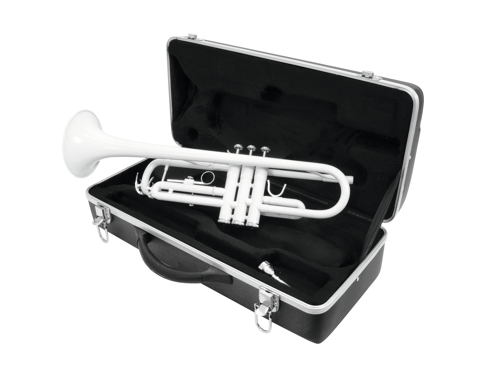 Tromba in Sib, colore bianco, con custodia, DIMAVERY TP-10