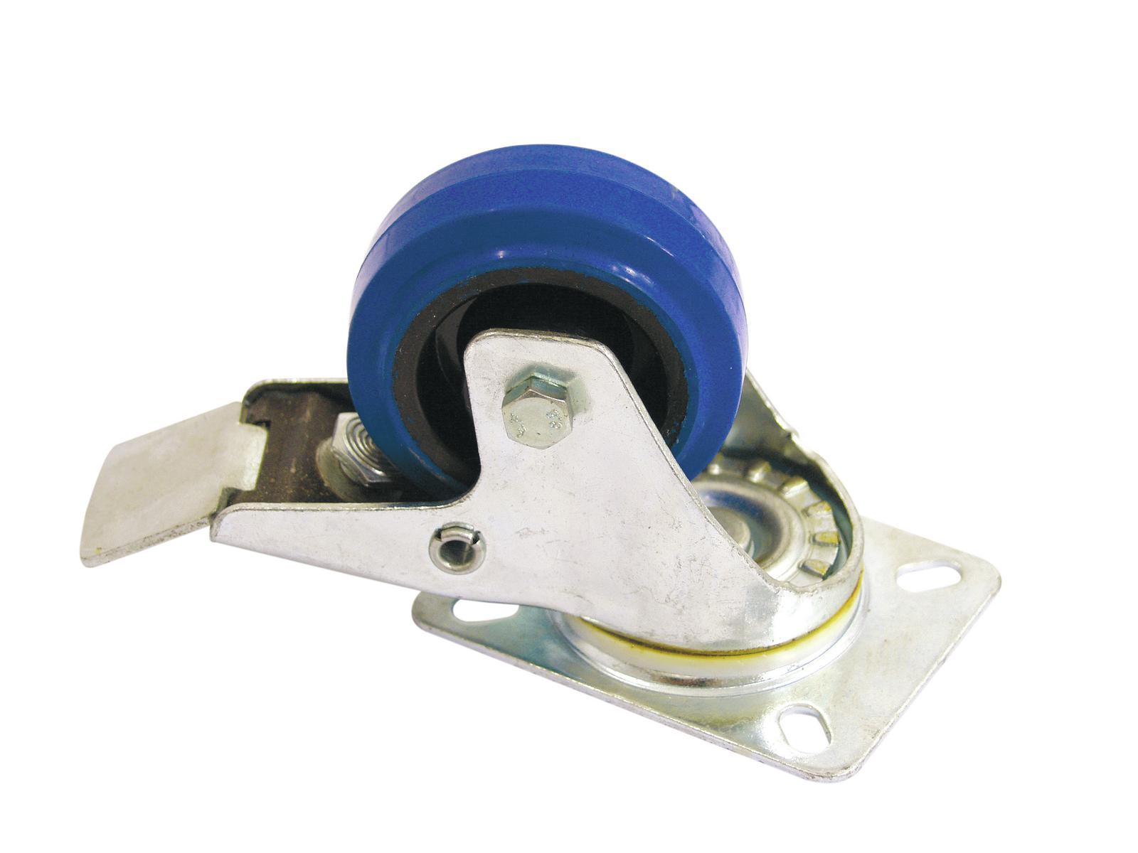 ROADINGER Lenkrolle 80mm blau mit Bremse