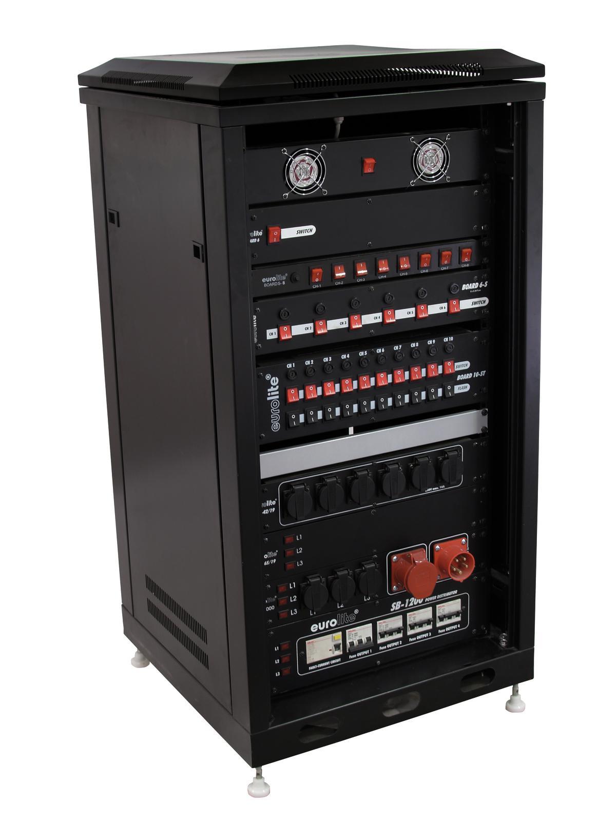ROADINGER armadio in Acciaio SRT-19, 28U con porta