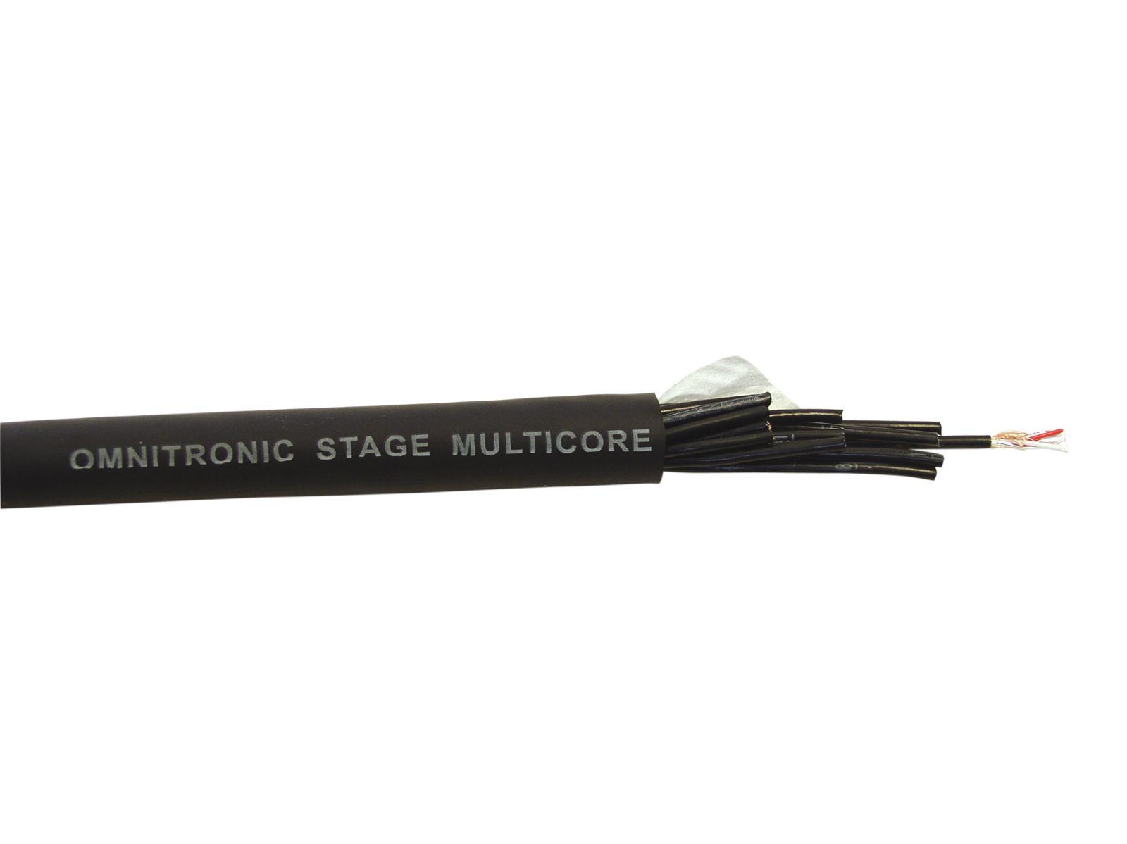 OMNITRONIC Multicore 16x2x0.12 25m