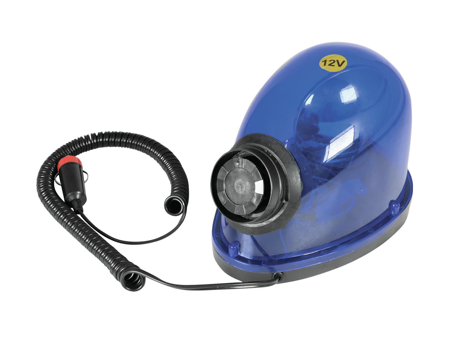 EUROLITE Polizia lampeggiante Sirena Beacon STA-1221S blu 12V/21W