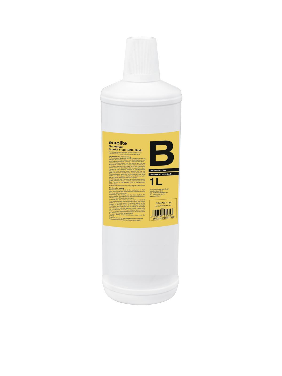 Liquido per macchina del fumo fluido base 1 litro EUROLITE B2D