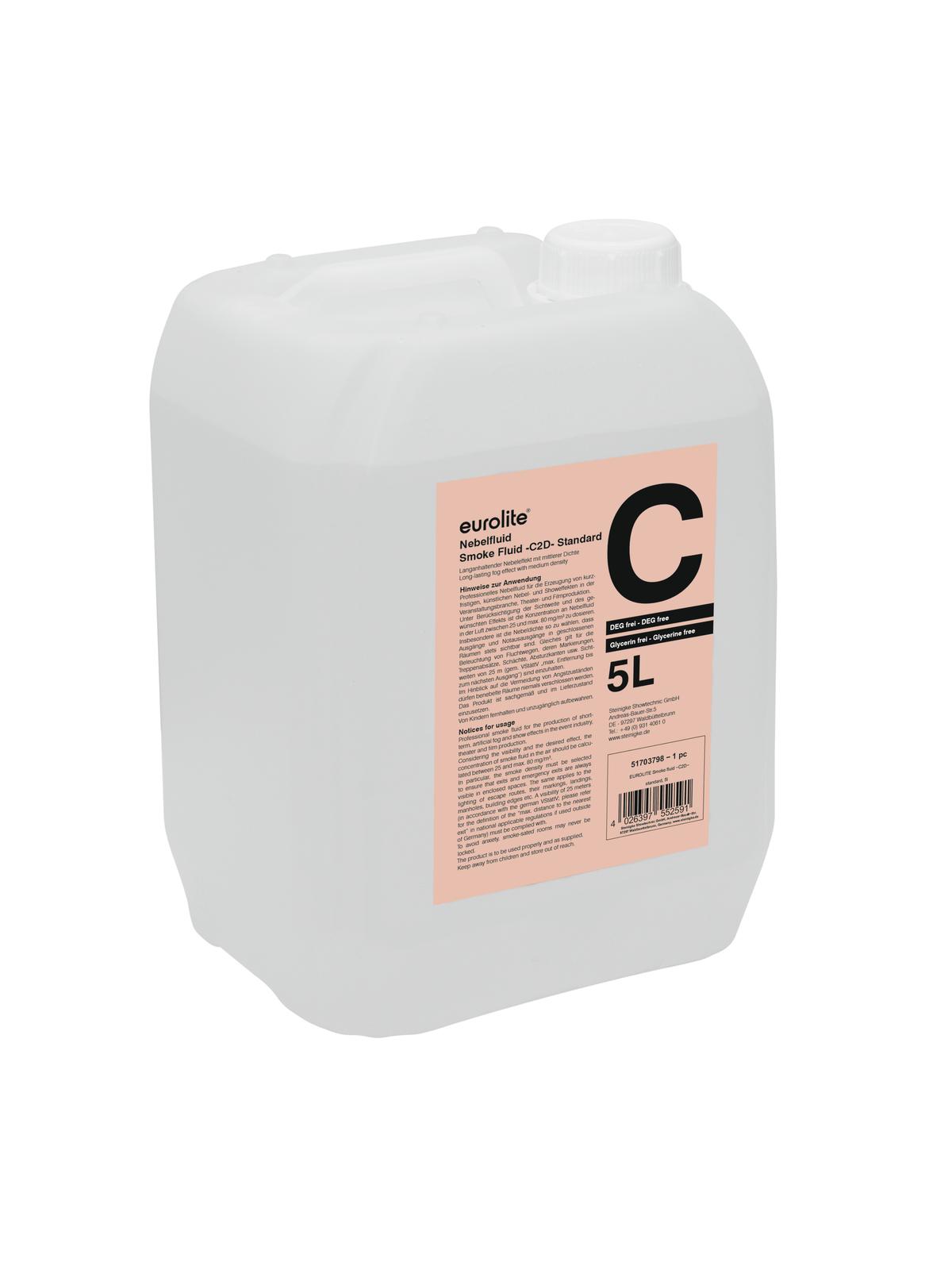 Liquido Tanica per macchina del fumo nebbia C2D standard 5 litri EUROLITE