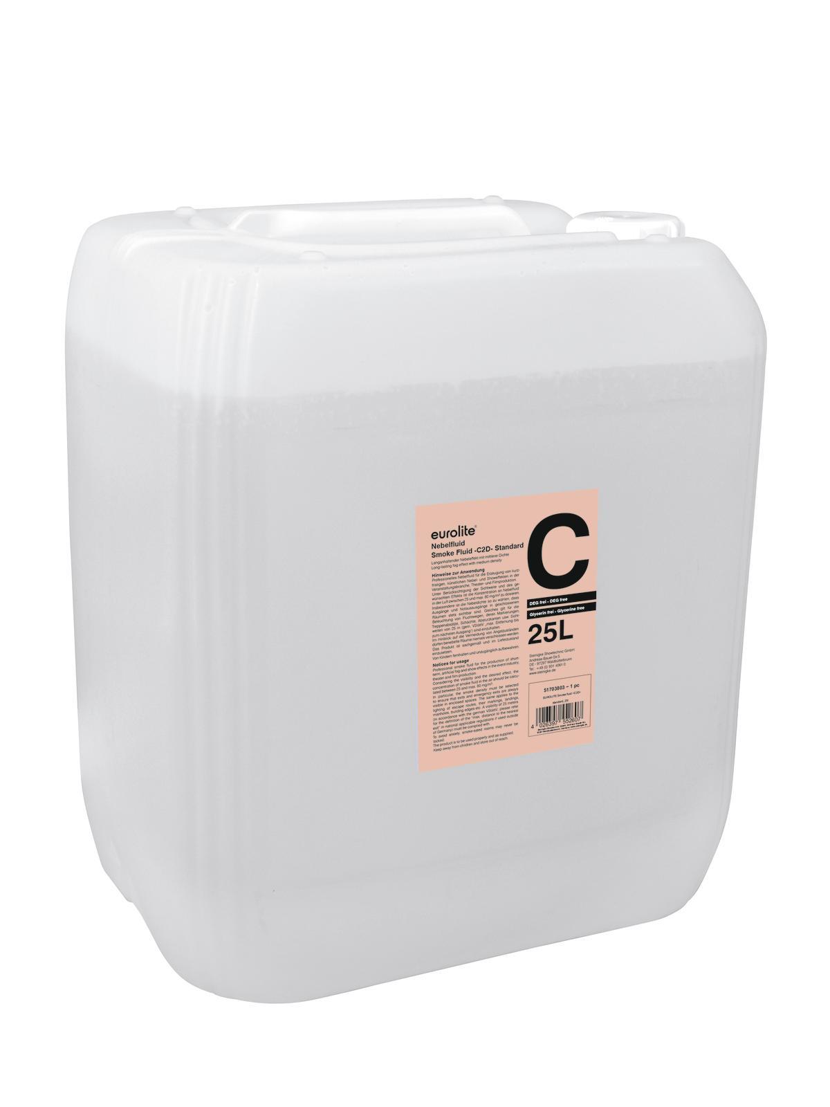 Liquido per macchina del fumo-nebbia -C2D - standard 25 litri EUROLITE