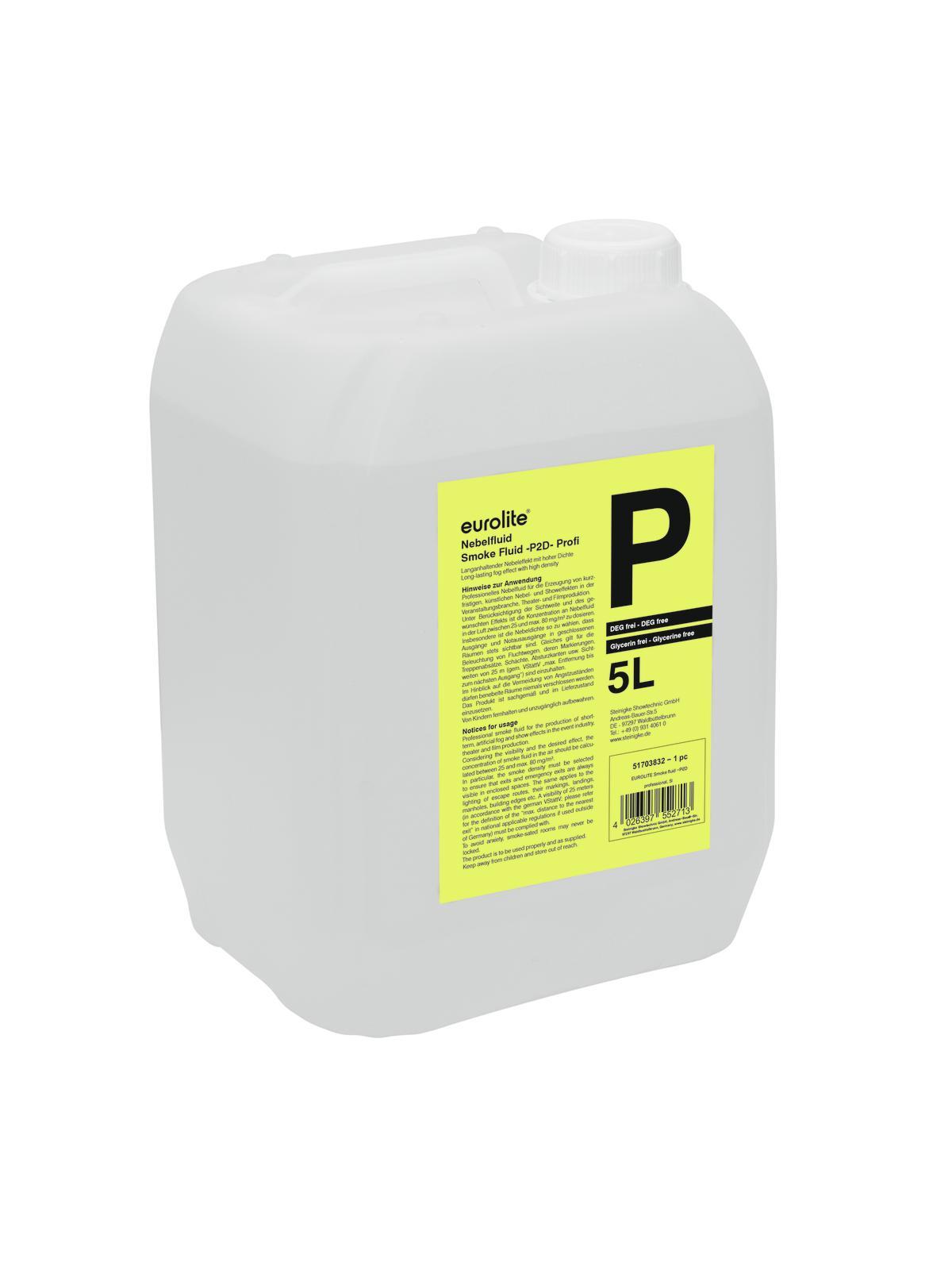 Liquido per macchina del fumo-nebbia, professionale, 5 litri EUROLITE-P2D