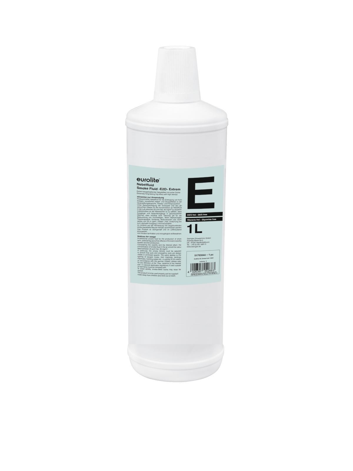 Liquido per macchina del fumo-nebbia, extreme, 1 litro EUROLITE -E2D -