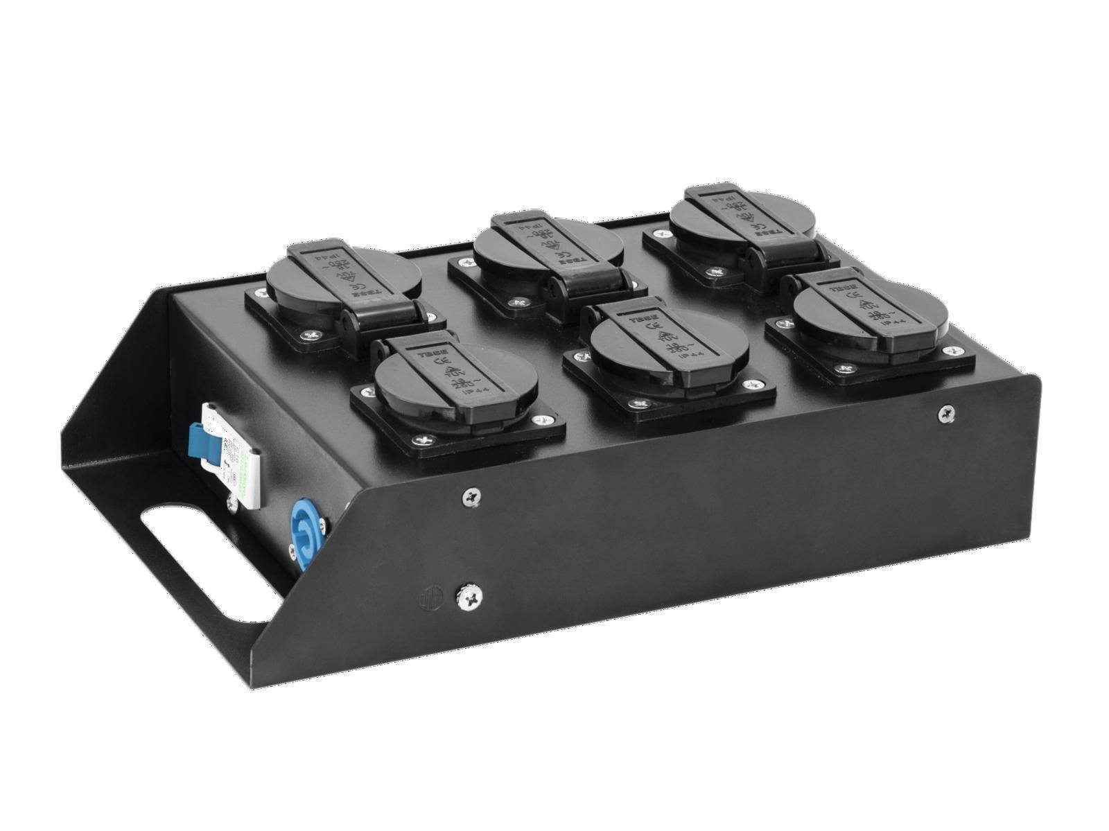 Power adapter built-EUROLITE 1 input P-6 safety caps