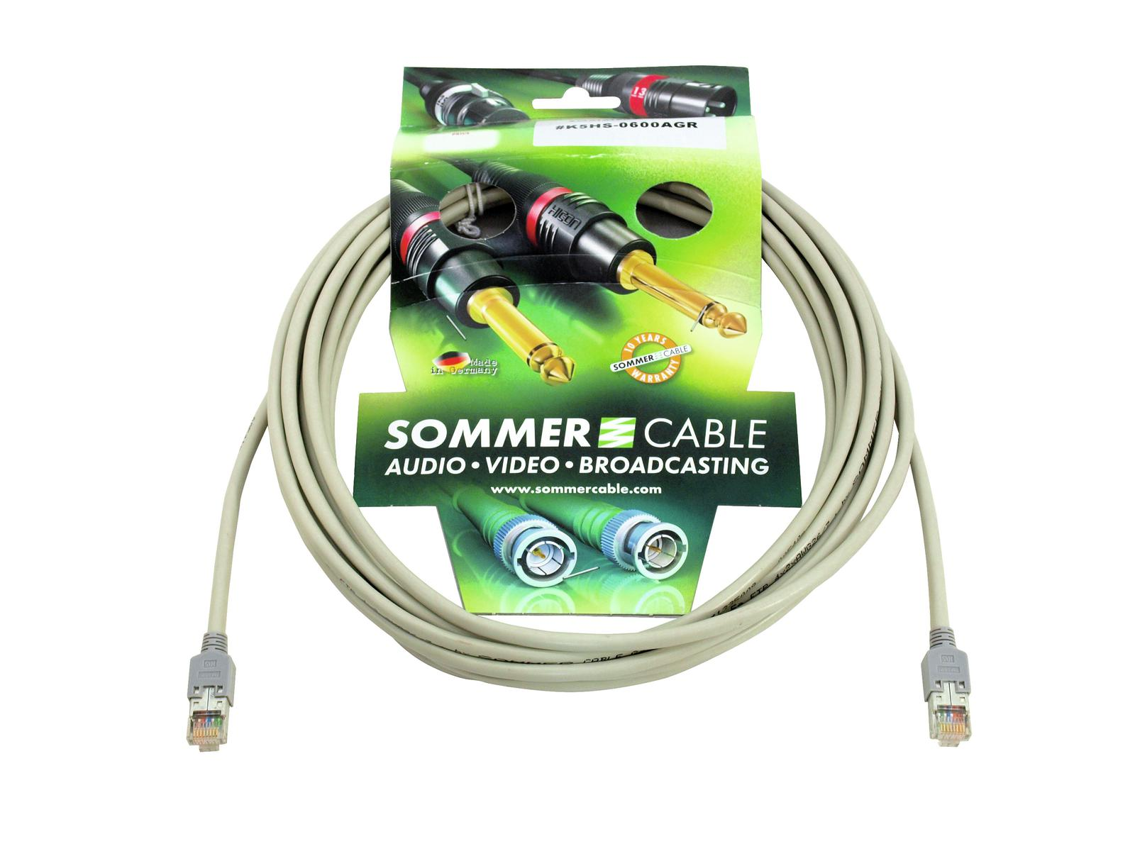 SOMMER CABLE CAT-5 Kabel FTP 20m gr