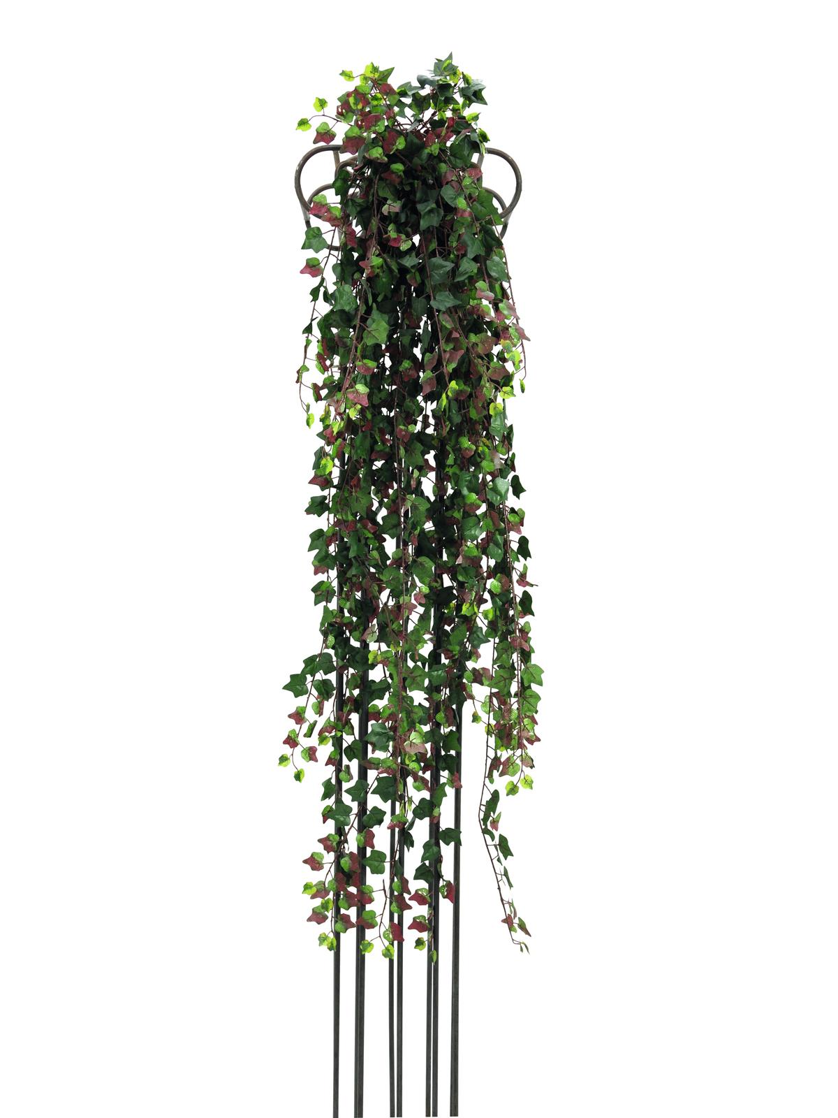 EUROPALMS Efeubuschranke Deluxe, künstlich, grün-rot, 160cm