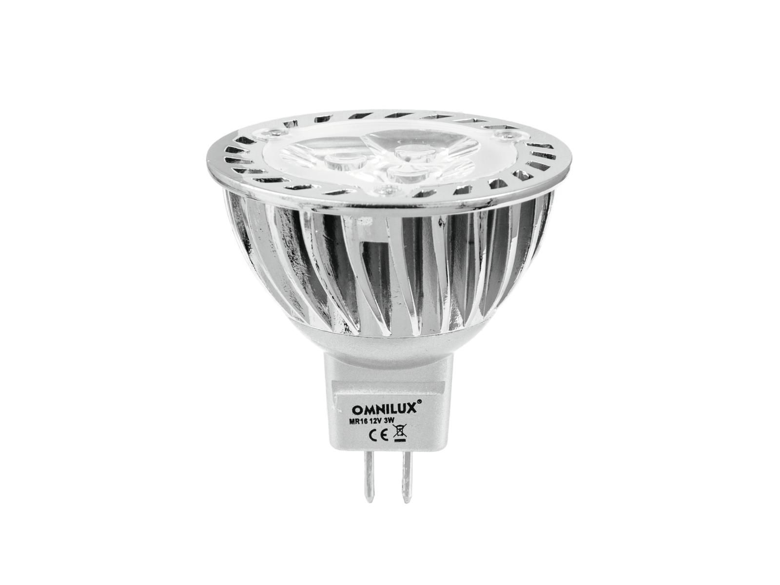 Lampada a led, luce rossa GU-5.3 12V 3x1W OMNILUX