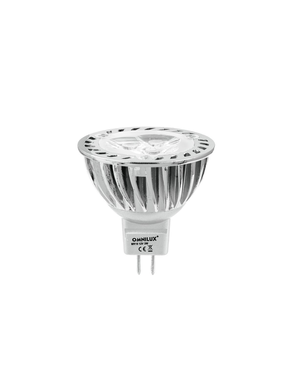 Lampada a led, luce gialla GU-5.3 12V3x1W OMNILUX