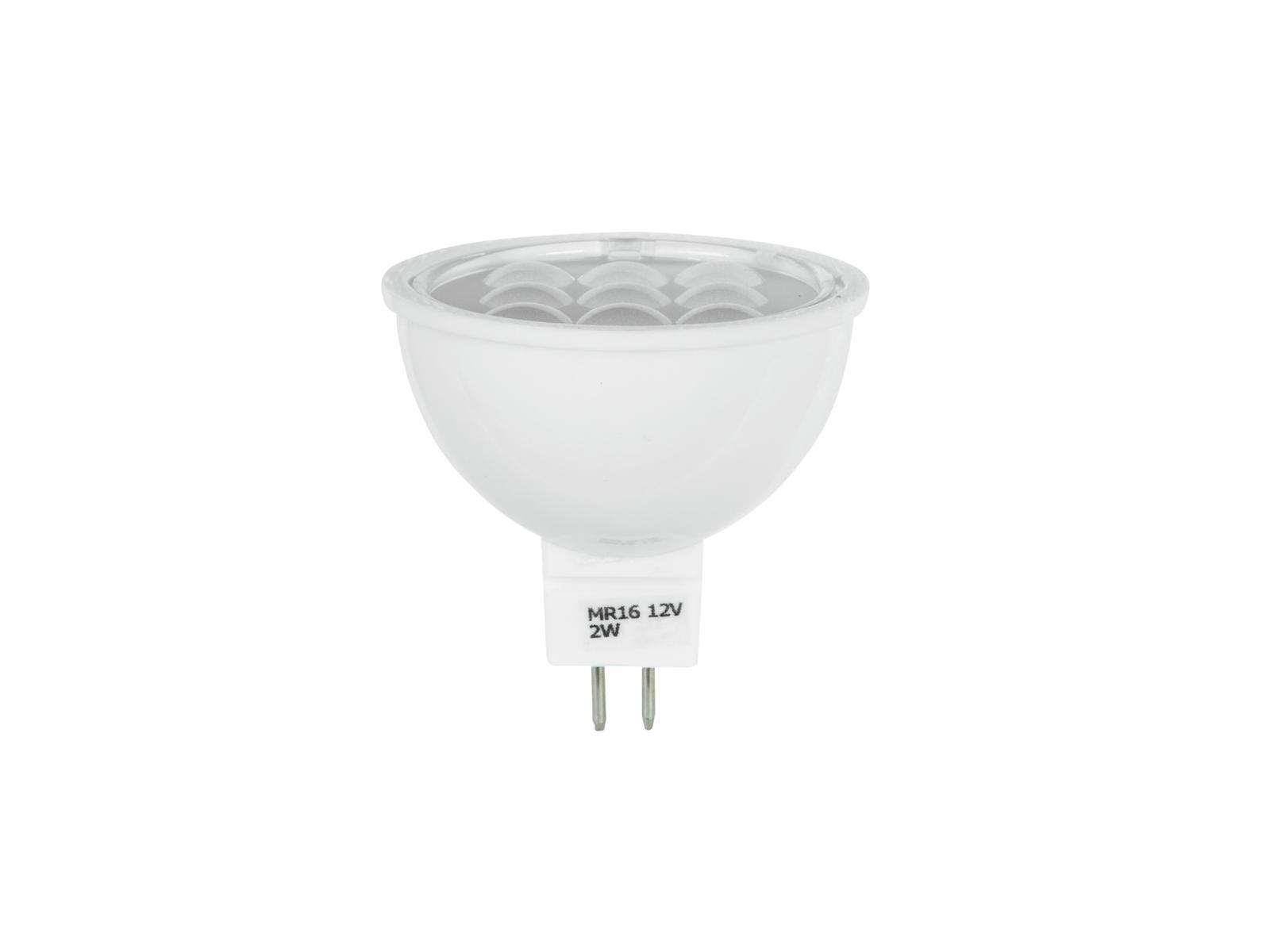 Lampada a led, luce gialla MR-16 12V GU-5.3 2W SMD OMNILUX