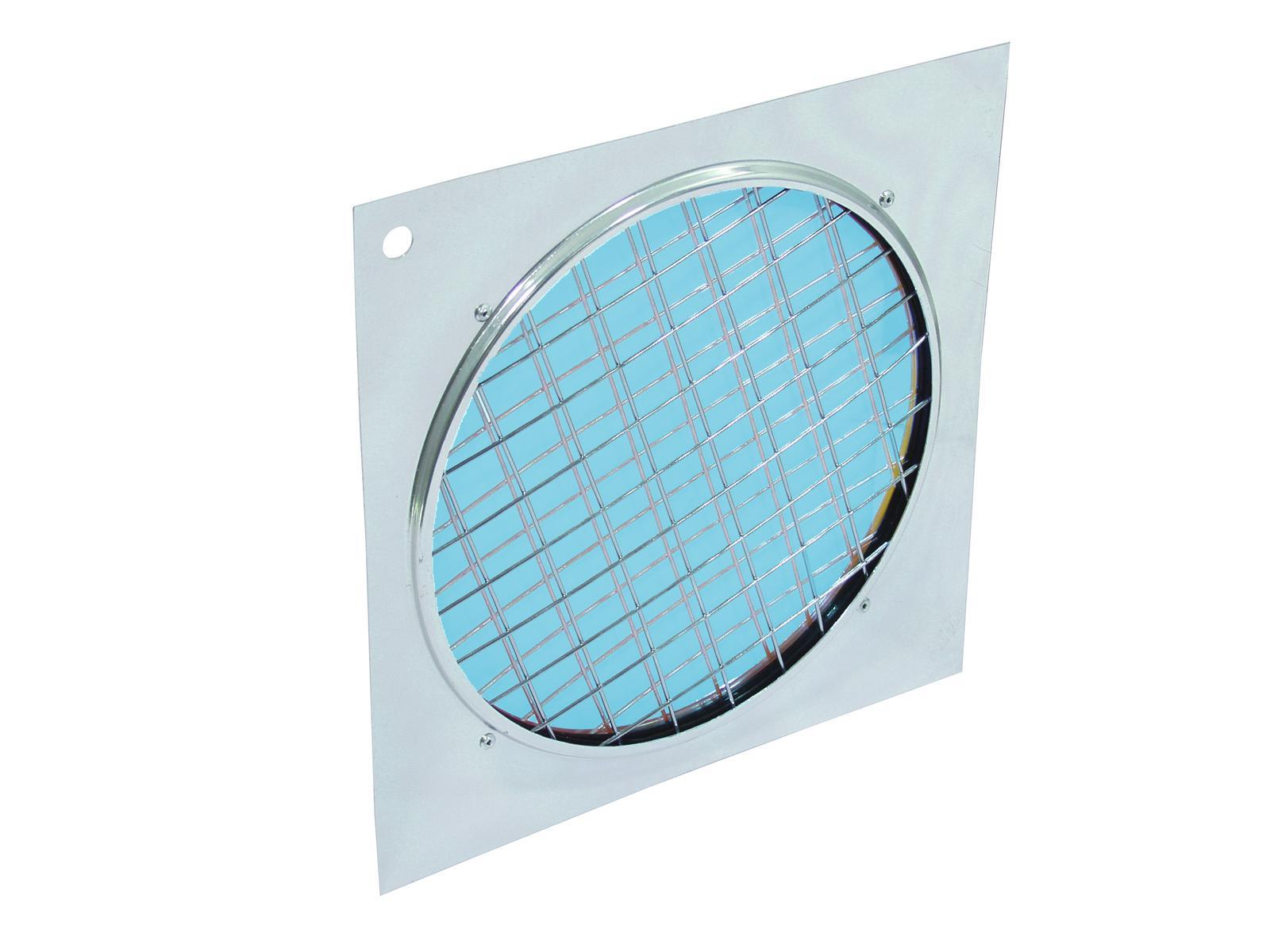 Filtro Frontale dicroico Per Faro Luce Par-64 blu con cornice argento Eurolite