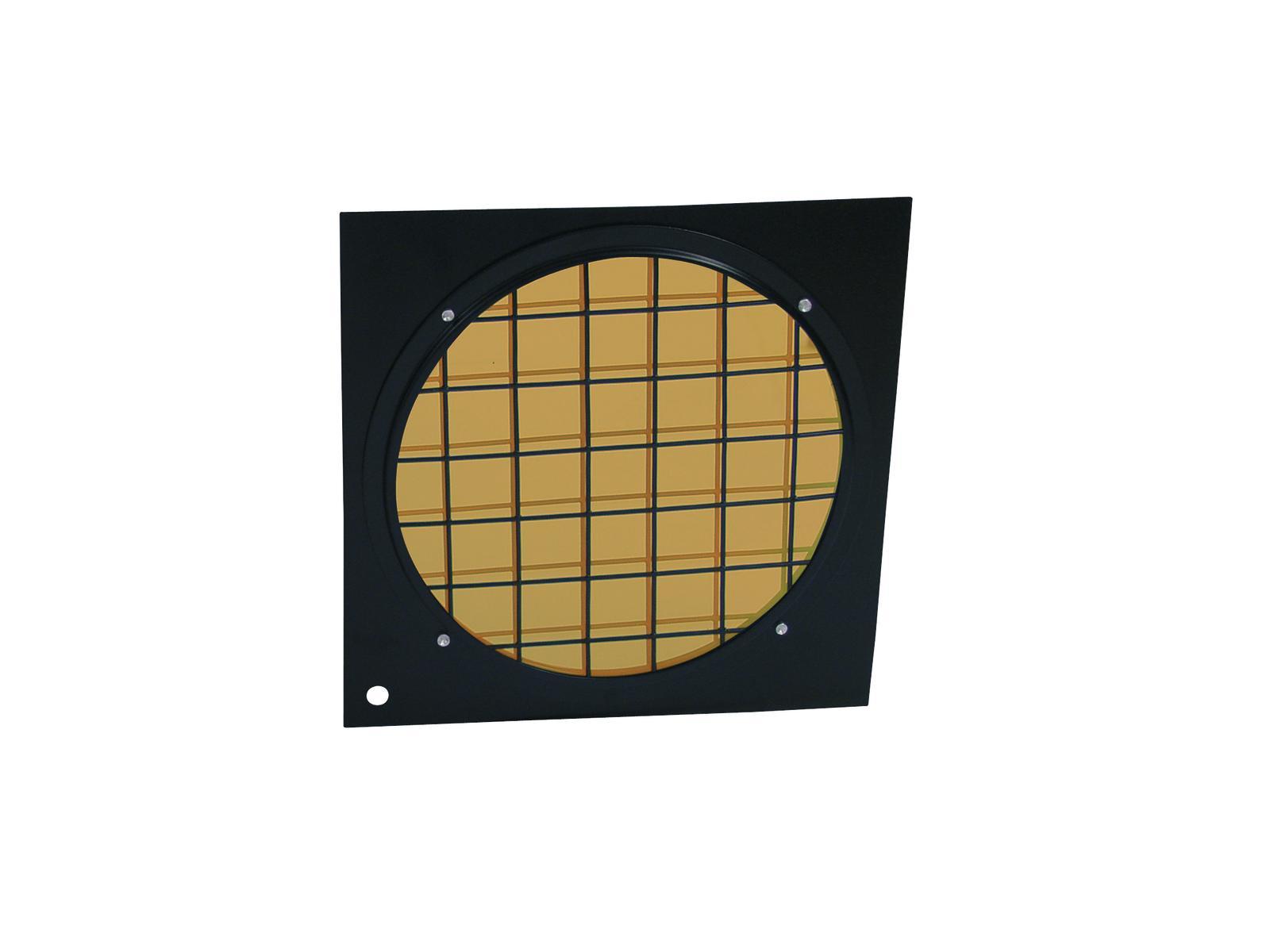 Filtro Frontale dicroico Per Faro Luce Par-64 arancio con cornice nera Eurolite