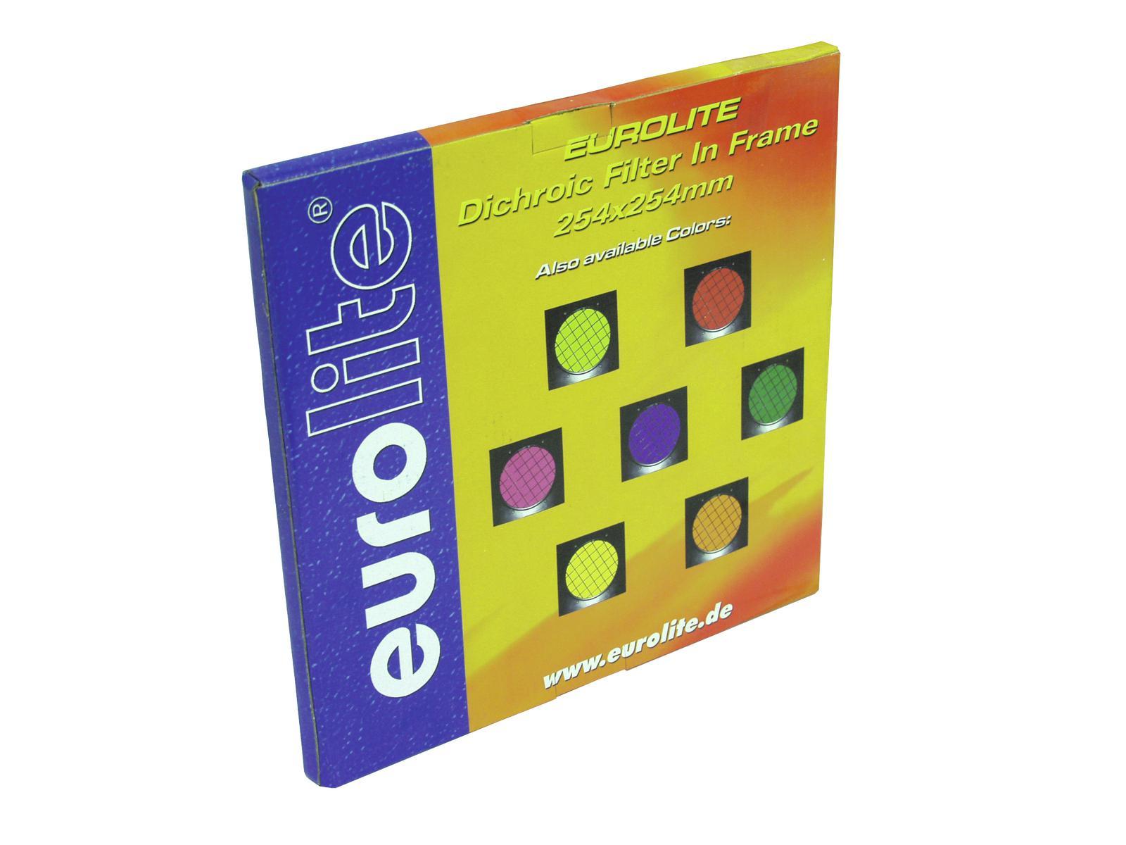 EUROLITE Rosso filtro dicroico cornice d'argento PAR-64