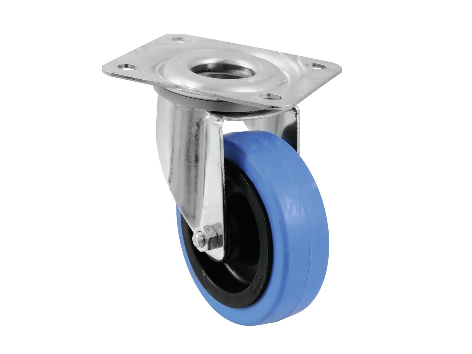 ROADINGER Lenkrolle 100mm BLUE WHEEL hellblau