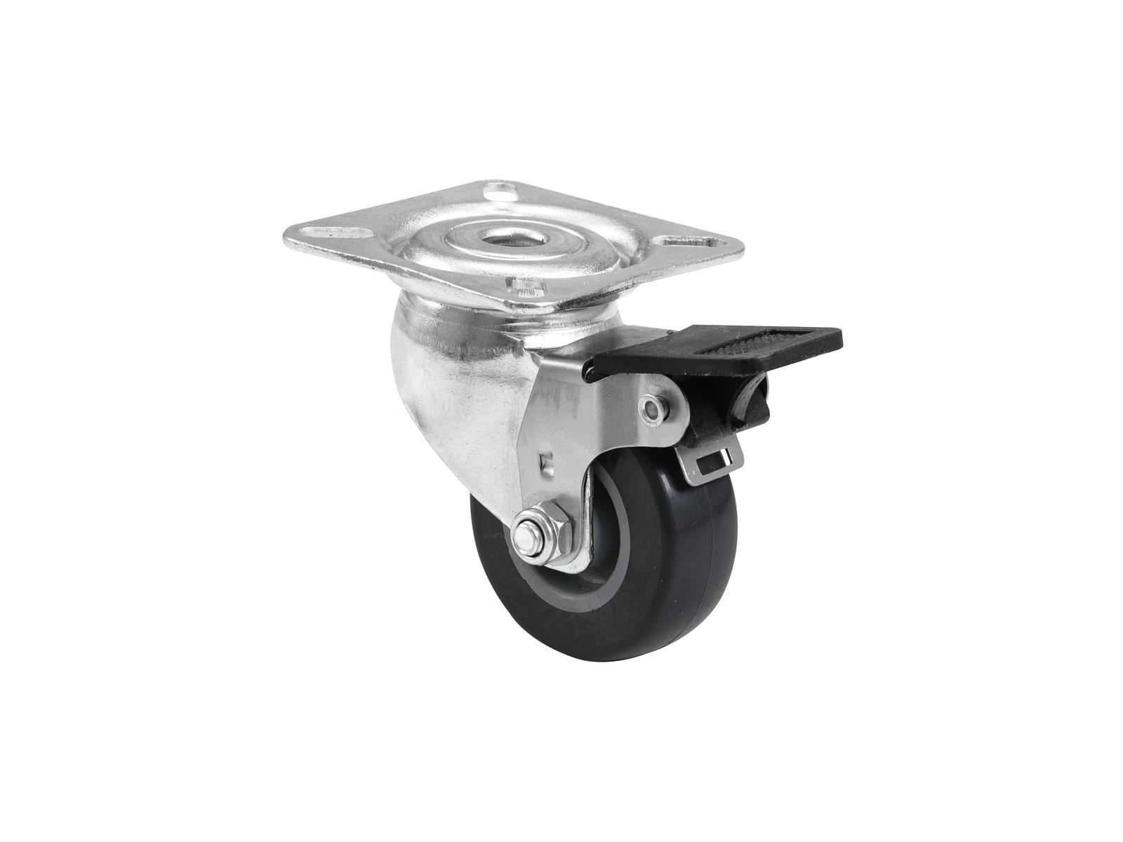 ROADINGER Lenkrolle 50mm grau mit Bremse