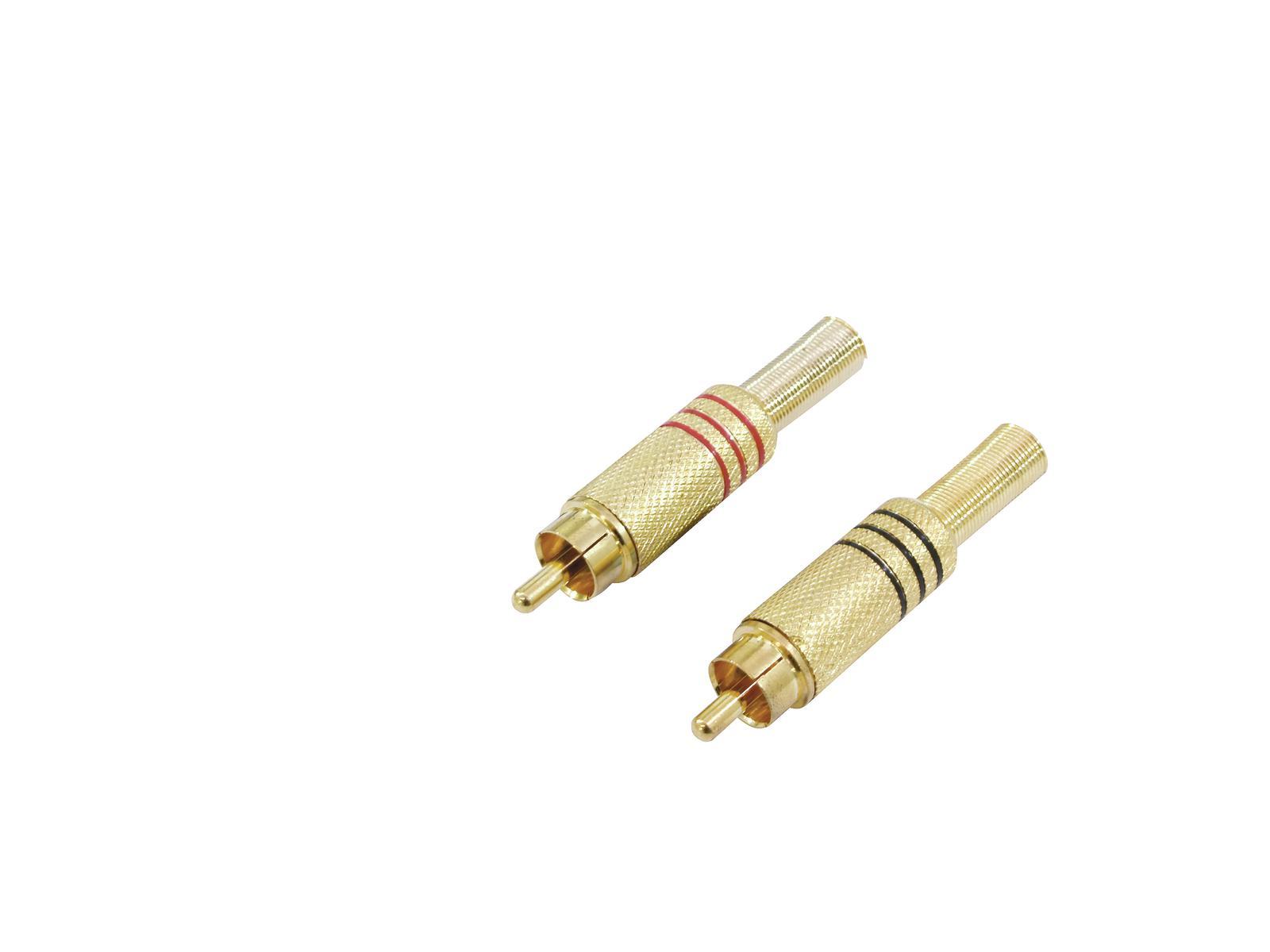 OMNITRONIC spina RCA placcati in oro 7mm rd/bk 2x