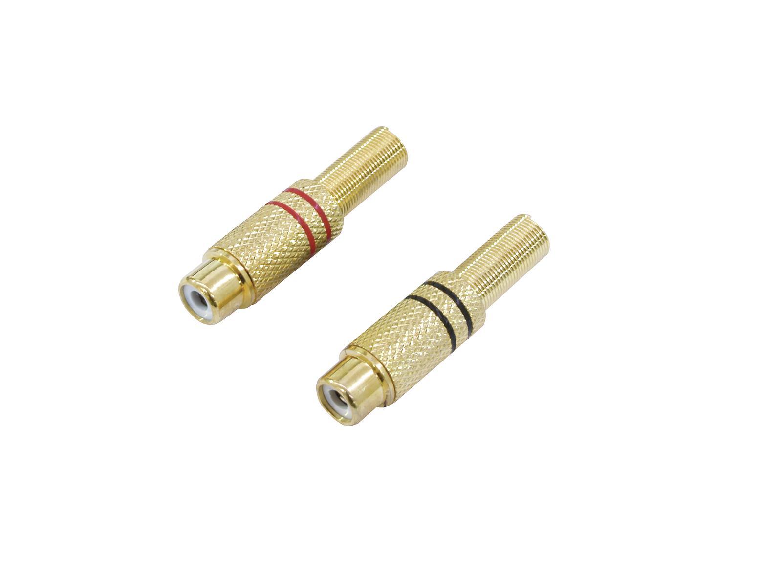 OMNITRONIC presa RCA placcati in oro 5.4 mm 2x